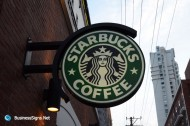 LED Double-sided-lit Acrylic Circle Lightbox For Starbucks