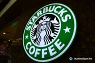 LED Front-lit Acrylic Circle Lightbox For Starbucks