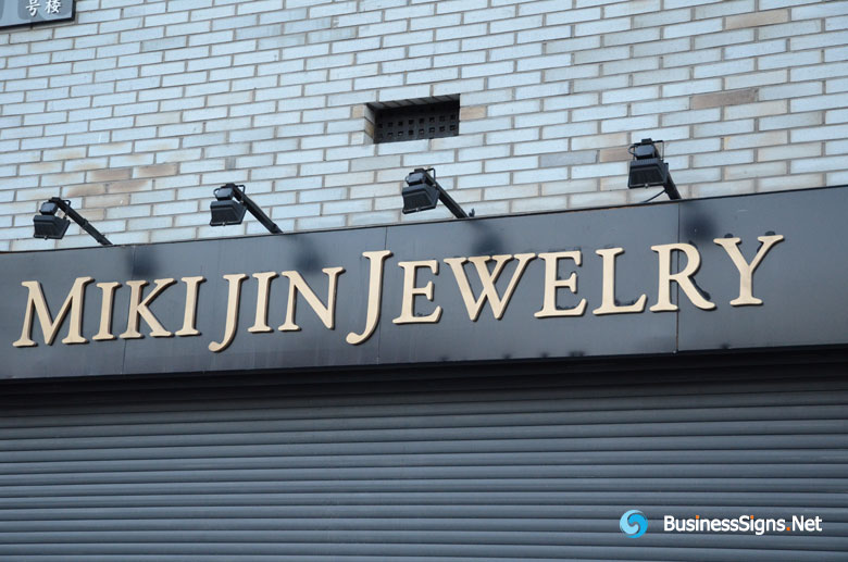 3d Brushed Rose Gold Plated Signs For Jewelry Shop│gallery