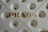 3D Mirror Polished Stainless Steel LED Backlit Signs For Prada