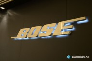 3D LED Backlit Signs With Brushed Stainless Steel Letter Shell For Bose