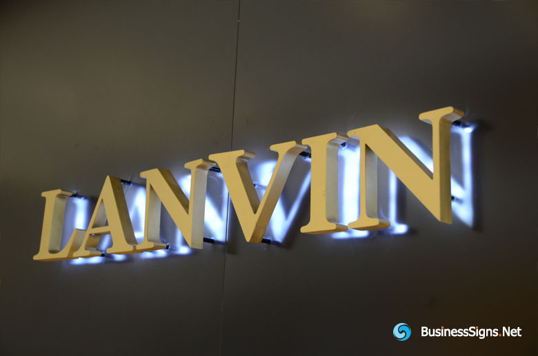 3D LED Backlit Signs With Painted Stainless Steel Letter Shell For Lanvin