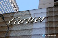 3D LED Front-lit Signs With Brushed Brass Letter Shell For Cartier