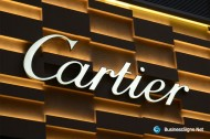 3D LED Front-lit Signs With Mirror Polished Stainless Steel Letter Shell For Cartier
