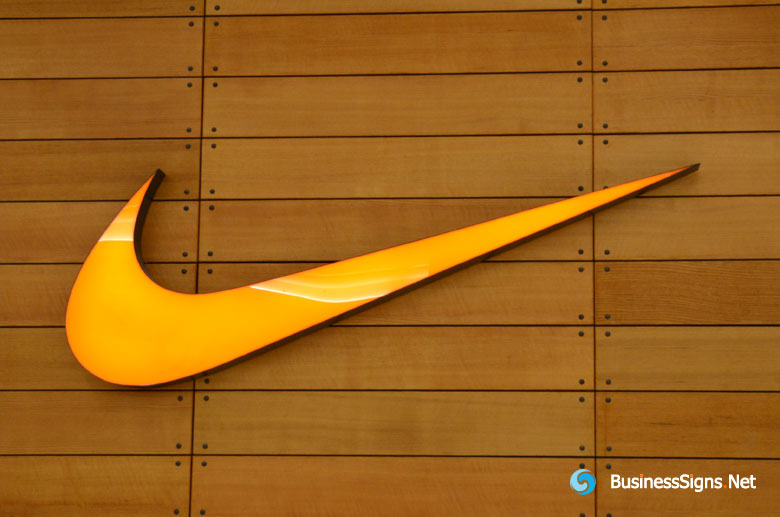 3D LED Front-lit Signs With Painted Stainless Steel Letter Shell For Nike