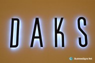 3D LED Side-lit Signs With Black Acrylic Front-panel For DAKS