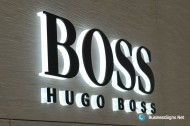3D LED Side-lit Signs With Black Acrylic Front-panel For Hugo Boss