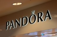 3D LED Side-lit Signs With Painted Stainless Steel Front-panel For PANDORA