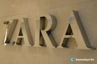 3D Mirror Polished Stianless Steel Signs For ZARA