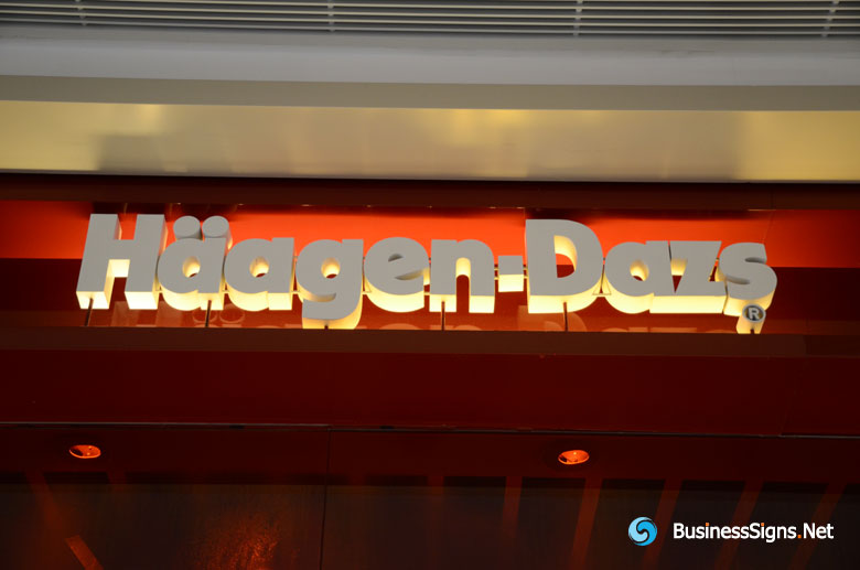 3D Painted Aluminum Signs for Häagen-Dazs
