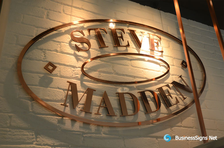 2d-laser-cutting-copper-signs-for-steve-madden