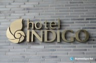 3D LED Backlit Signs With Mirror Polished Bronze Letter Shell For Hotel Indigo