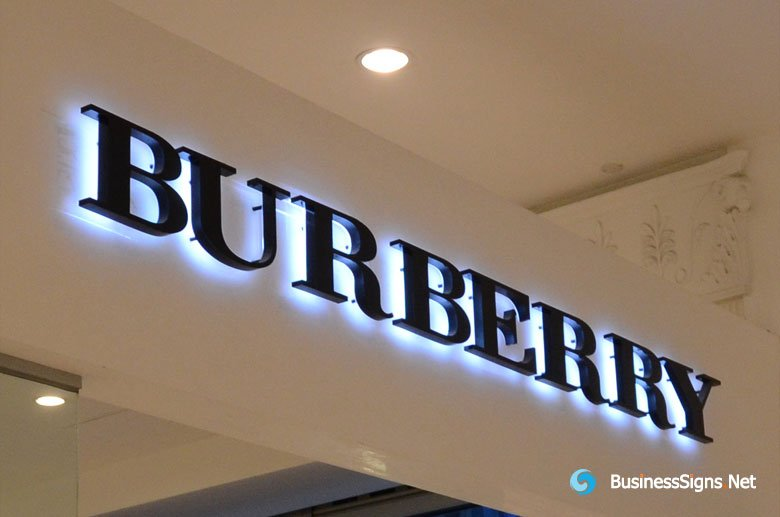 3D LED Backlit Signs With Painted Stainless Steel Letter Shell For ...
