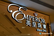 3D LED Front-lit Signs With Mirror Polished Copper Letter Shell For Emperor Watch & Jewellery