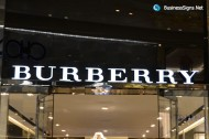 3D LED Front-lit Signs With Painted Stainless Steel Letter Shell For Burberry