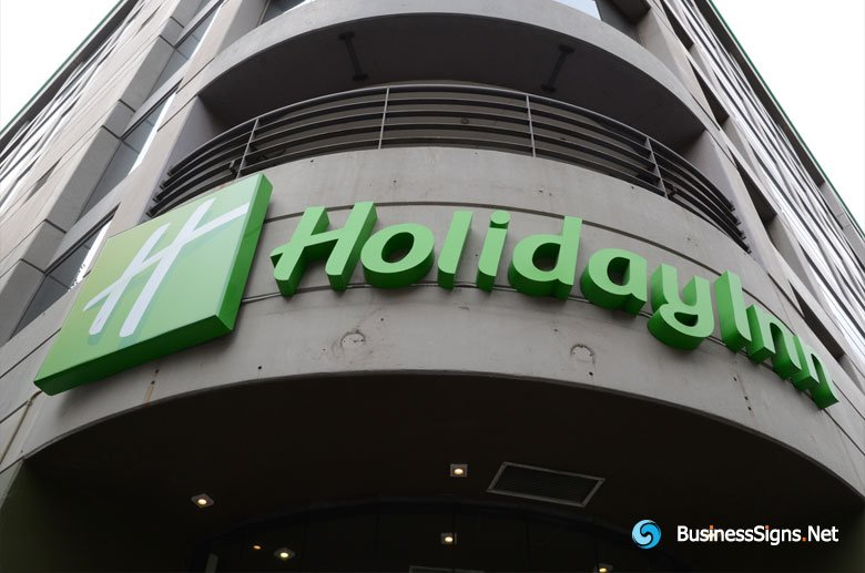 3D LED Front-lit Signs With Painted Stainless Steel Letter Shell For Holiday Inn