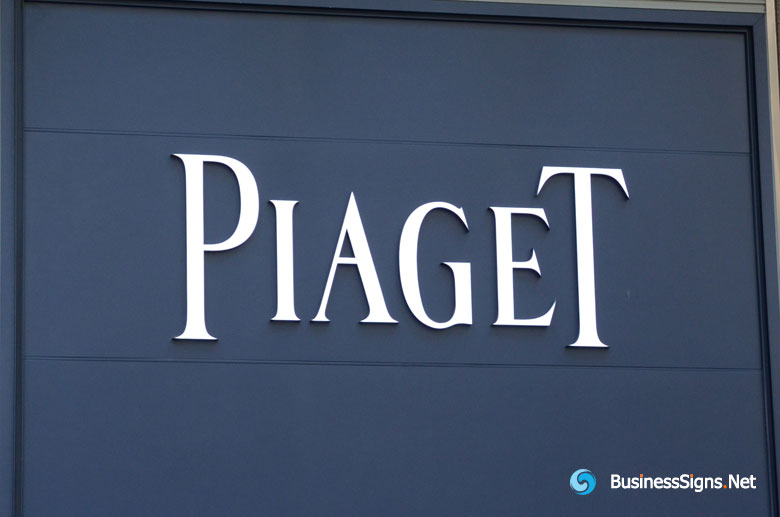 3D LED Front-lit Signs With Painted Stainless Steel Letter Shell For Piaget
