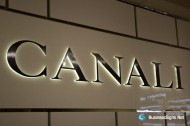 3D LED Side-lit Signs With Brushed Stainless Steel Front-panel For Canali