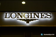 3D LED Side-lit Signs With Brushed Stainless Steel Front-panel For Longines