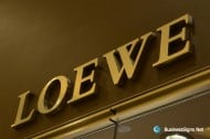 3D Mirror Polished Gold Plated Signs For Loewe