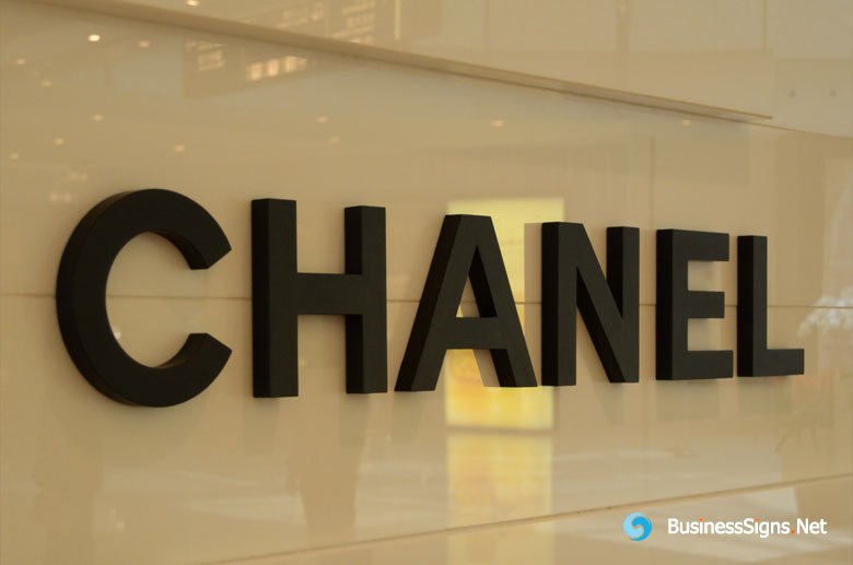 3D Painted Stainless Steel Signs For Chanel