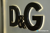 3D LED Back-lit Signs With Mirror Polished Titanium Plated Letter Shell & 10mm Thickness Acrylic Back Panel For Dolce & Gabbana