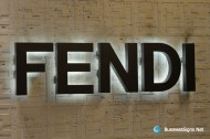 3D LED Back-lit Signs With Painted Stainless Steel Letter Shell For Fendi