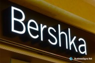 3D LED Front-lit Signs With Brushed Stainless Steel Letter Shell For Bershka