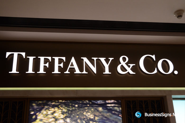 3D LED Front-lit Signs With Brushed Stainless Steel Letter Shell For Tiffany & Co.