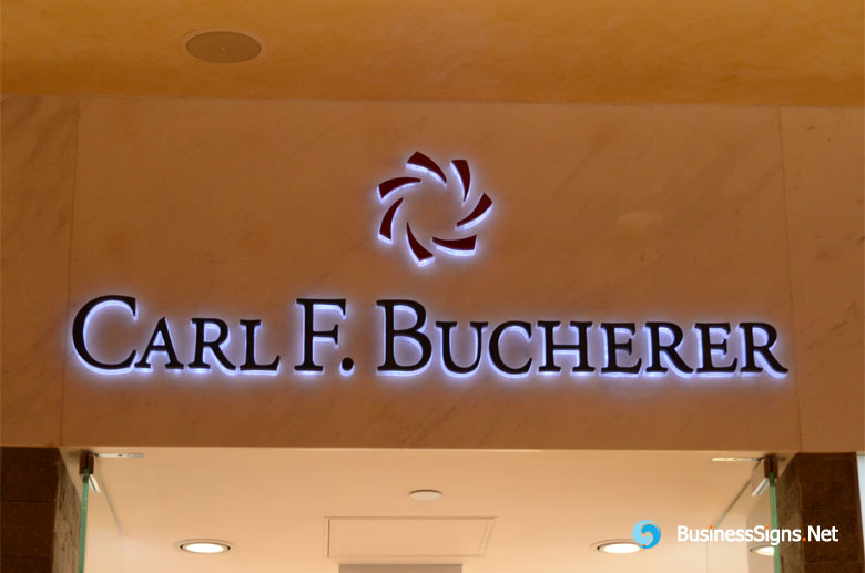 3D LED Side-lit Signs With Black Acrylic Front-panel For Carl F. Bucherer