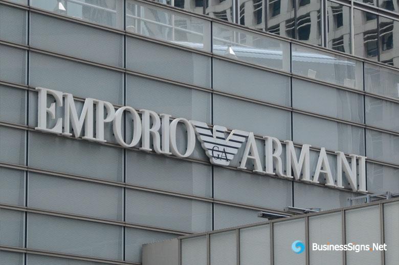 3D LED Whole-lit Signs For Giorgio Armani