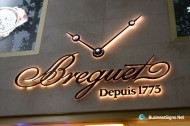 3D LED Backlit Signs With Painted Stainless Steel Letter Shell & 20mm Thickness Acrylic Back Panel For Breguet