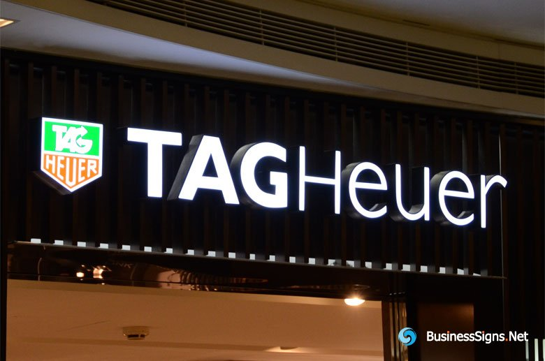 3D LED Front-lit Signs With Brushed Stainless Steel Letter Shell For TAG Heuer