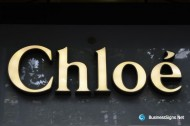 3D LED Front-lit Signs With Painted Stainless Steel Letter Shell For Chloé