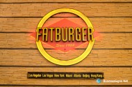 3D LED Front-lit Signs With Painted Stainless Steel Letter Shell For Fatburger