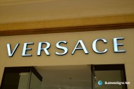 3D LED Front-lit Signs With Painted Stainless Steel Letter Shell For Versace