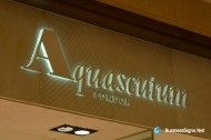 3D LED Side-lit Signs With Painted Stainless Steel Front-panel For Aquascutum
