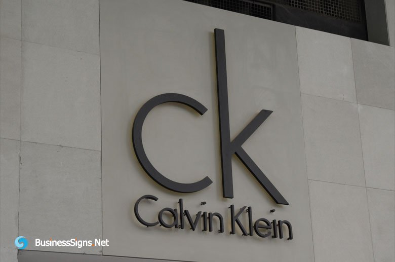 3D LED Backlit Outdoor Signs With Painted Stainless Steel Letter Shell For Calvin Klein
