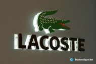 3D LED Backlit Signs With Laser Cutting Acrylic Front-panel For Lacoste