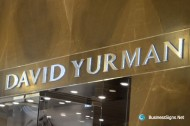 3D LED Side-lit Signs With Brushed Stainless Steel Front-panel For David Yurman
