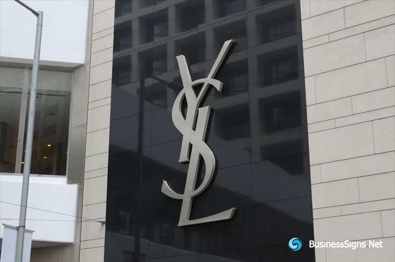 3D LED Side-lit Signs With Brushed Stainless Steel Front-panel For Yves Saint Laurent (YSL)