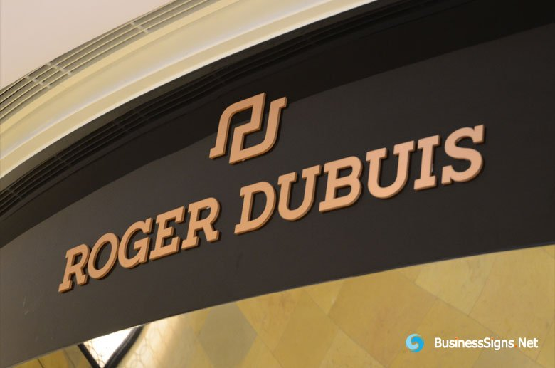 Painted Laser Cutting Stainless Steel Signs For Roger Dubuis