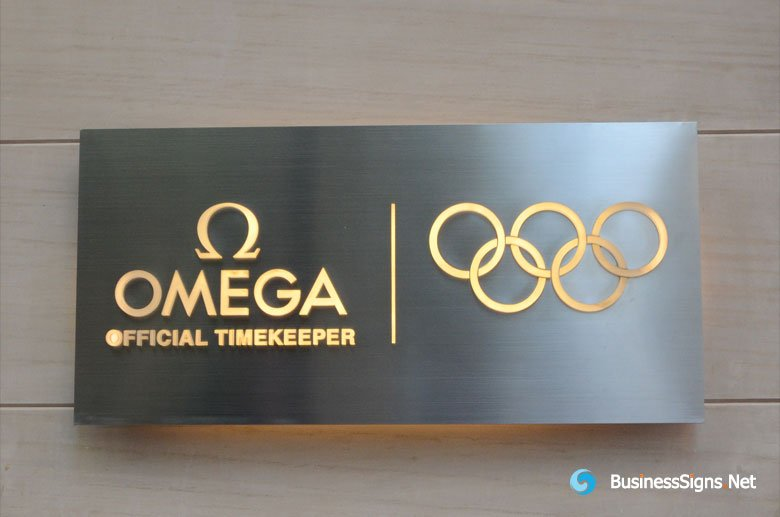 3d Lightbox Signs With Brushed Stainless Steel Backing Box And Whole Lit Acrylic Letters For Omega