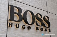 3D LED Backlit Signs With Painted Stainless Steel Letter Shell For Hugo Boss