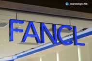 3D LED Front-lit Signs With Mirror Polished Stainless Steel For Fancl