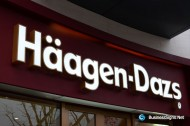 3D LED Front-lit Signs With Painted Stainless Steel Letter Shell For Häagen-Dazs