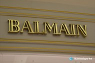 3D Fabricated Mirror Polished Gold Plated Signs For Balmain