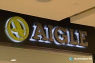 3D LED Backlit Signs With Brushed Stainless Steel Letter Shell For Aigle