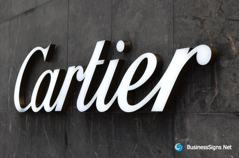 3d-led-front-lit-signs-with-painted-stainless-steel-letter-shell-for-cartier