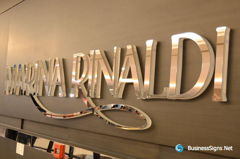 2 Layers Acrylic Lasers Cut Signs For Marina Rinaldi